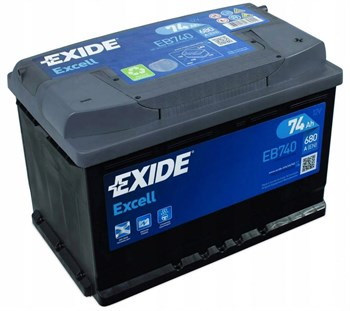 EXIDE Excell 74 A/h  EB740 - фото 3907511